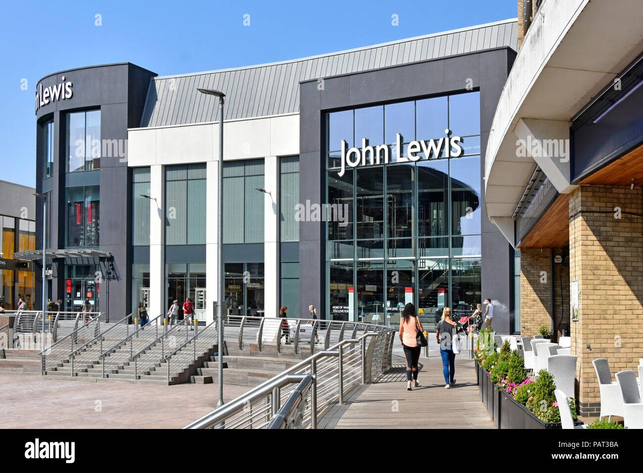Exterior modern architecture design new john lewis department store building in chelmsford town shopping centre
