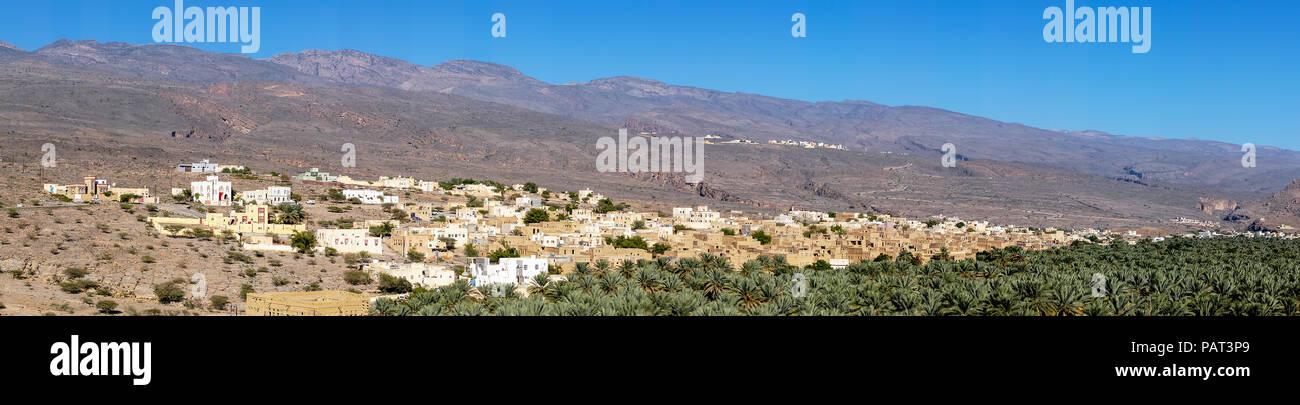 Al Hamra historic town in Oman - Stock Image