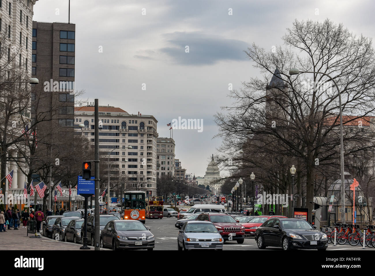 Commotion of the United States Capitol building - Stock Image