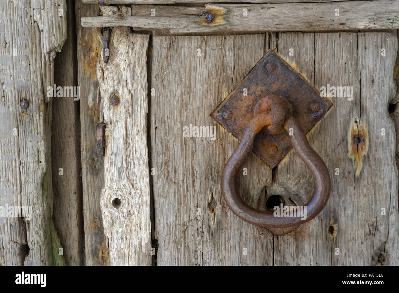 Details of an old door at Godolphin House - Stock Image