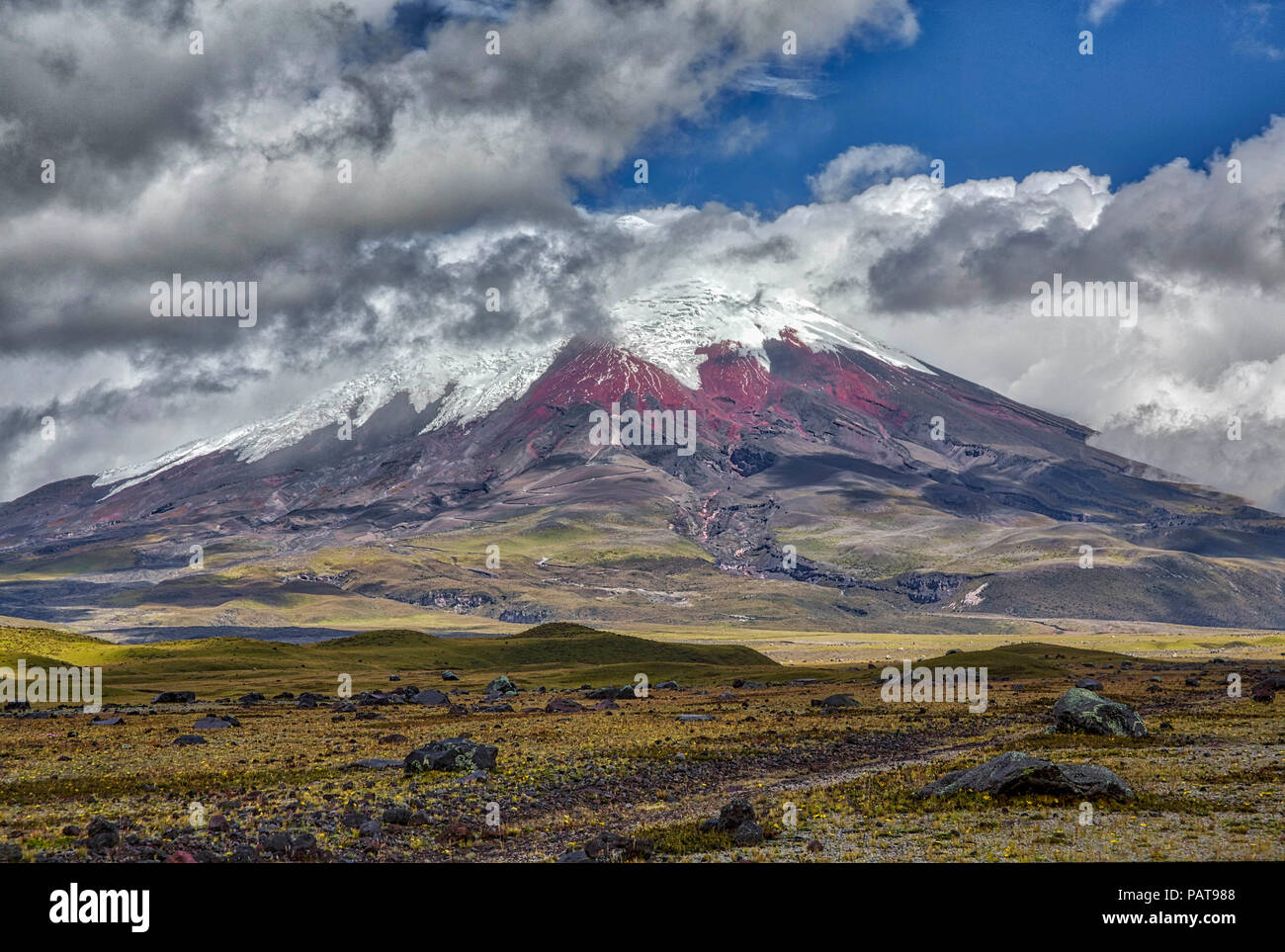 The Cotopaxi Volcano in Ecuador - Stock Image