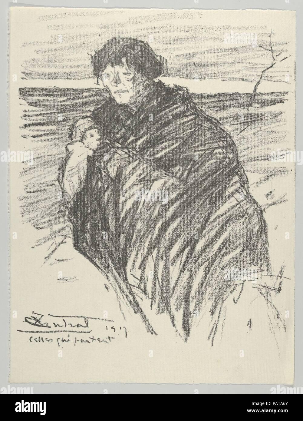 Celles Qui Partent From Les Evacus Artist Louis Robert Antral French