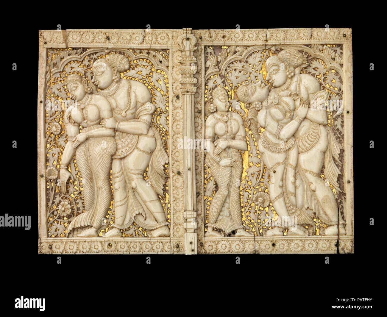 Two box panels with mithuna couples  Culture: India (Tamil