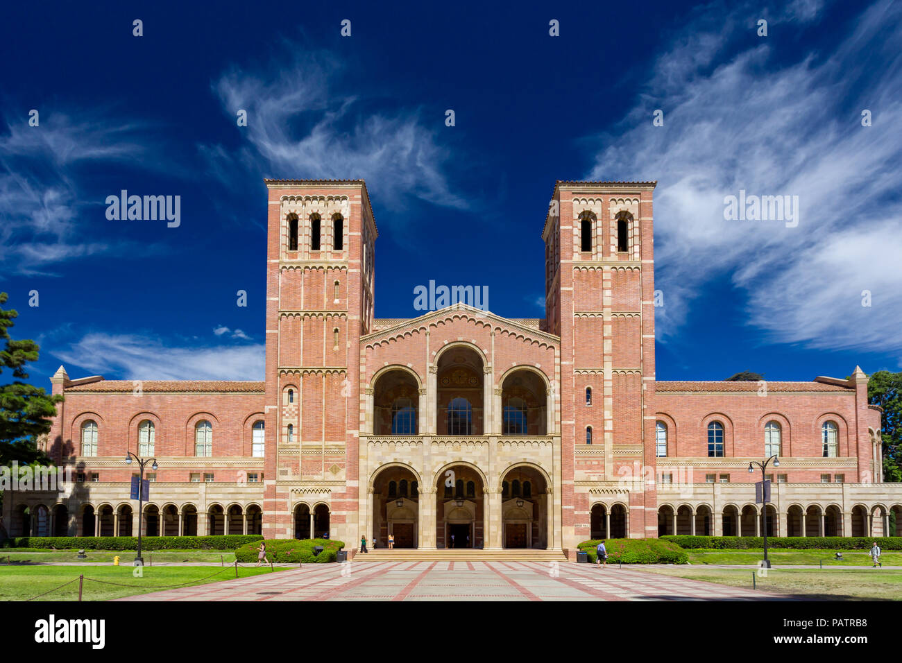 LOS ANGELES, CA/USA - OCTOBER 4, 2014: Royce Hall on the campus of UCLA. - Stock Image