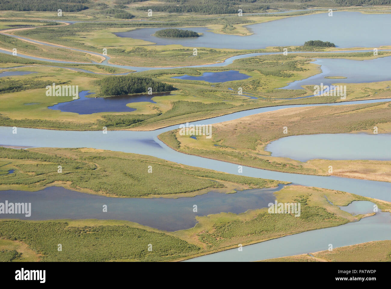 The Beauty of Northern Sweden  - Rapaätno delta (remastered). Rapaätno delta, Sarek, Northern Sweden. 30.6.2009. Stock Photo