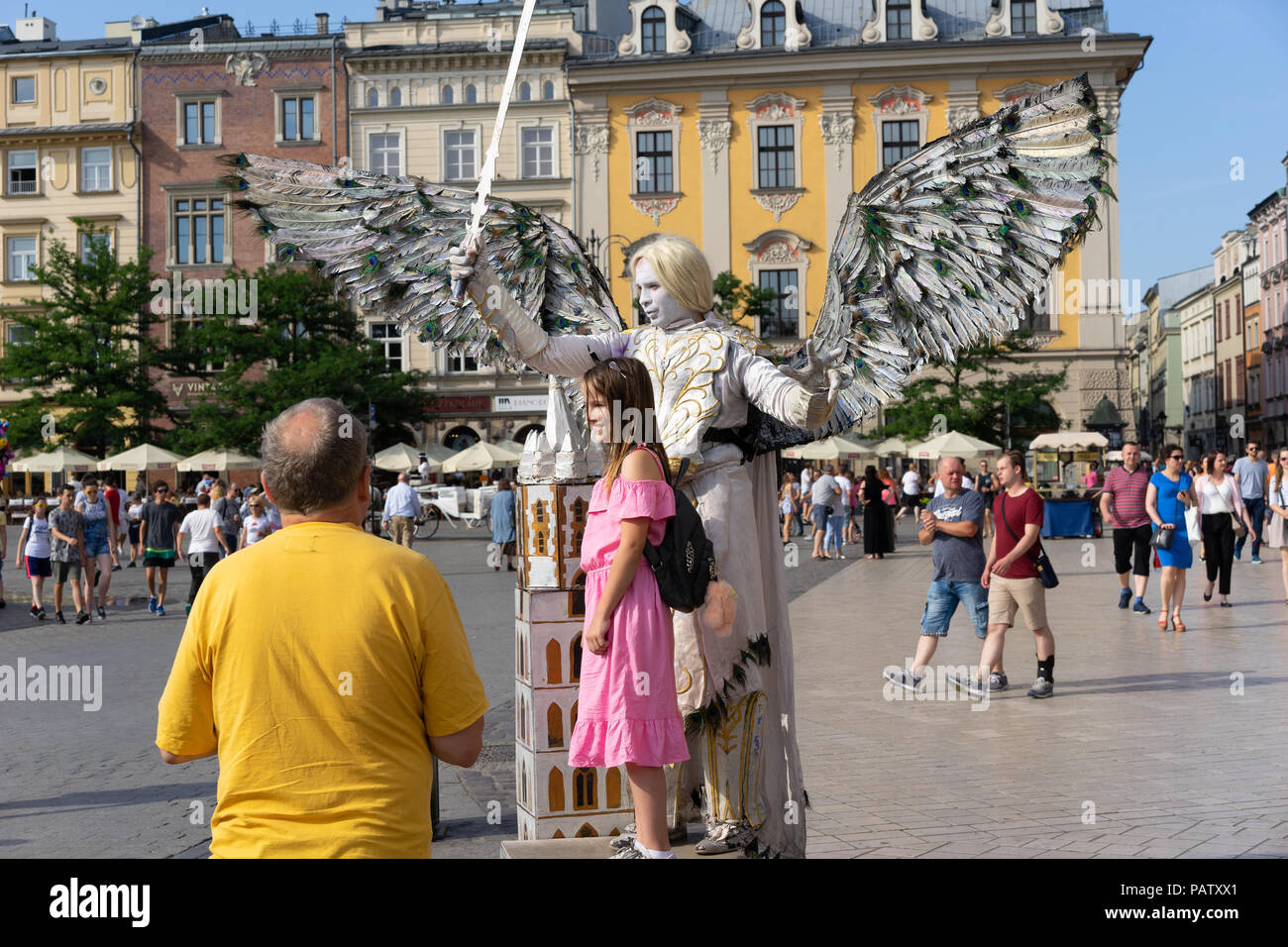 Street Entertainers, Krakow, Poland, Europe. - Stock Image