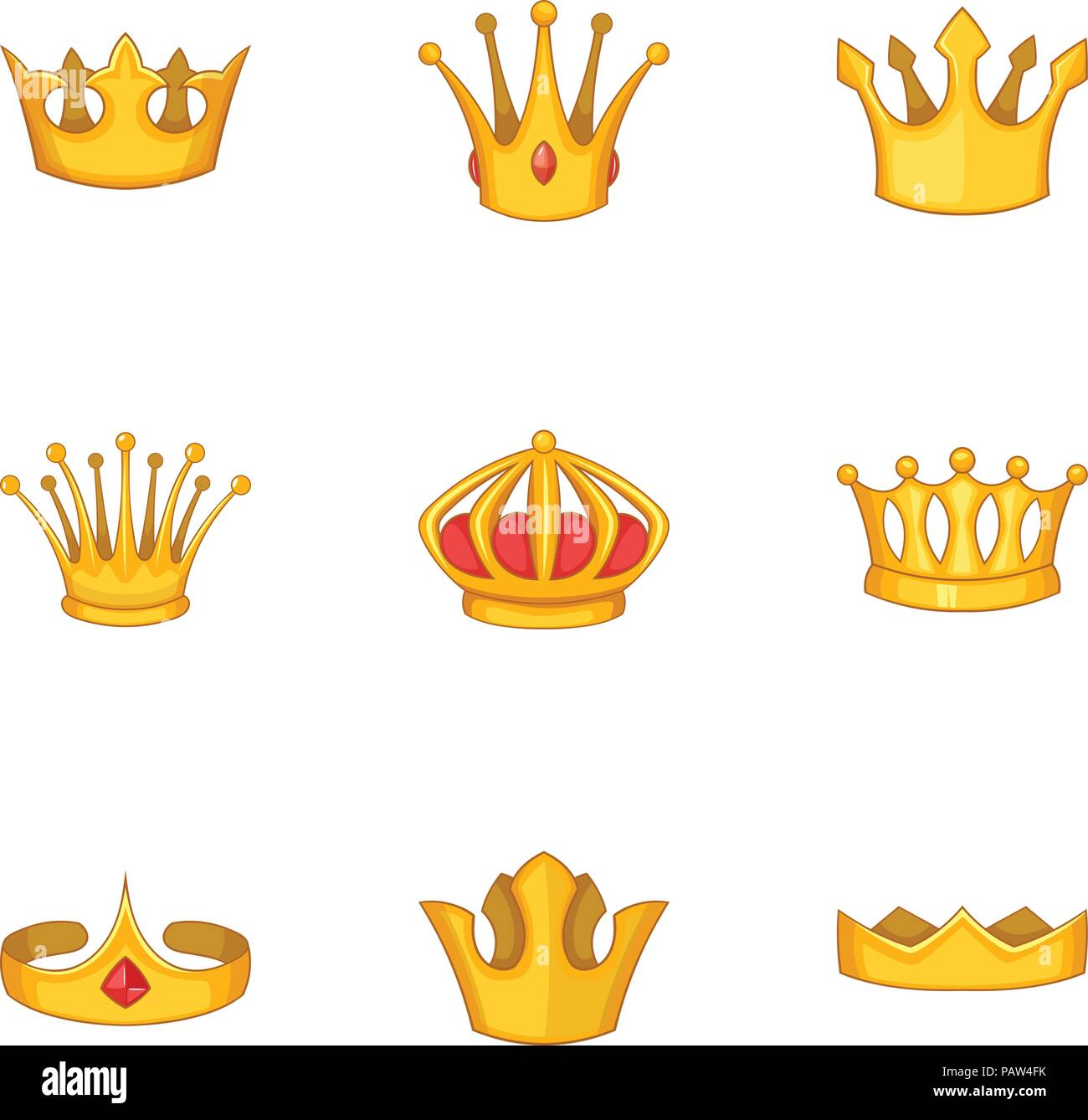 Head Crown Icons Set Cartoon Style Stock Vector Image Art Alamy The human crown is made of three layers of the scalp above the skull. alamy