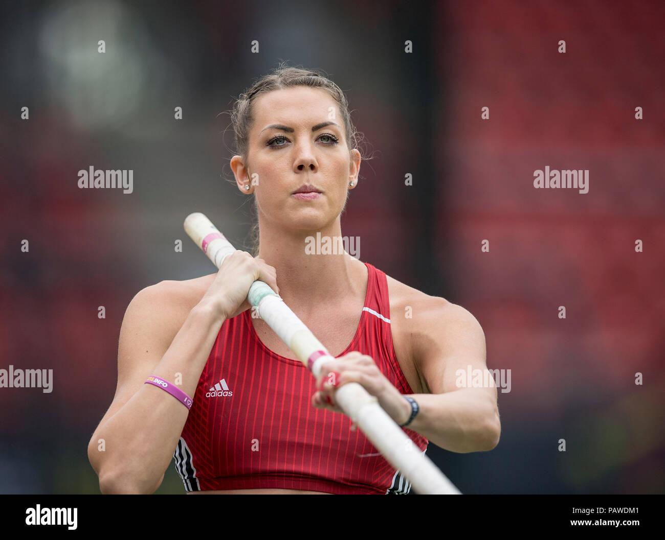 Nuremberg, Deutschland. 22nd July, 2018. Katharina BAUER, TSV Bayer 04 Leverkusen, action. Final pole vault of women on 22.07.2018. German Athletics Championships 2018, from 20.07. - 22.07.2018 in Nuernberg/Germany. | usage worldwide Credit: dpa/Alamy Live News Stock Photo