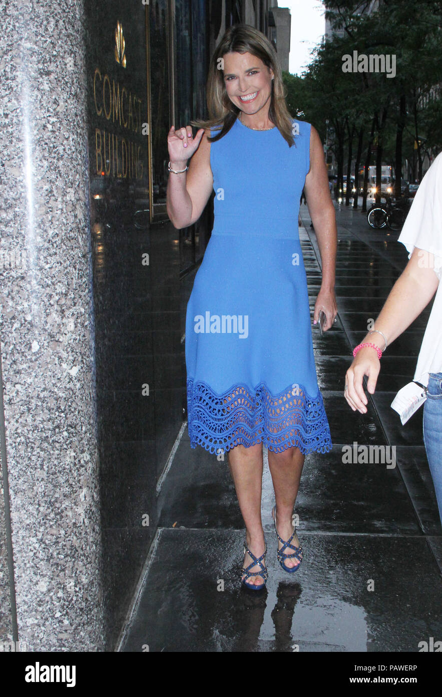 New York Ny July 25 Savannah Guthrie Seen At Megyn Kelly Today In New York City On July 25 2018 Credit Rw Mediapunch Stock Photo Alamy