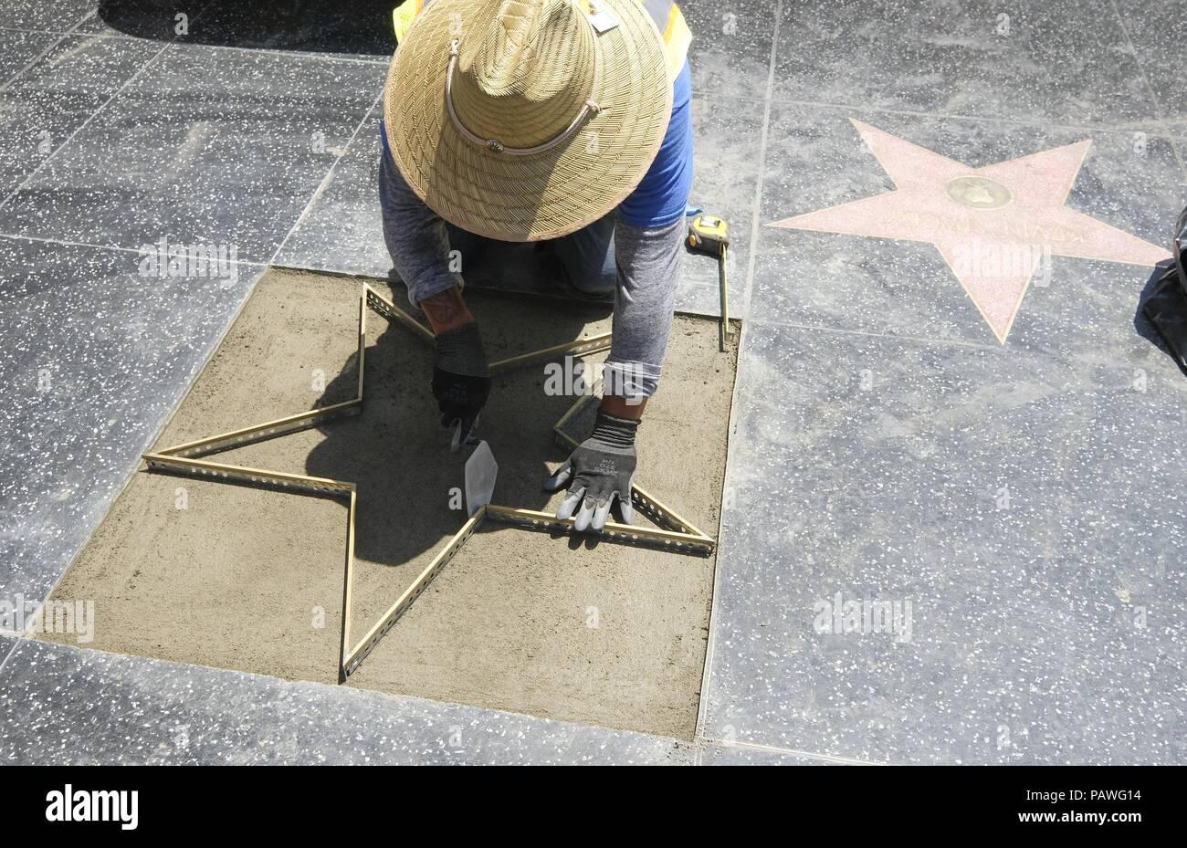 Donald Trumps Star On Hollywood Stock Photos & Donald Trumps