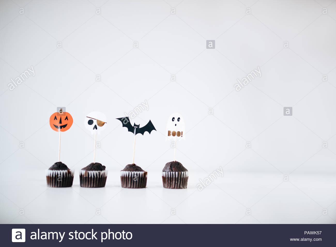 Halloween cupcakes - Stock Image
