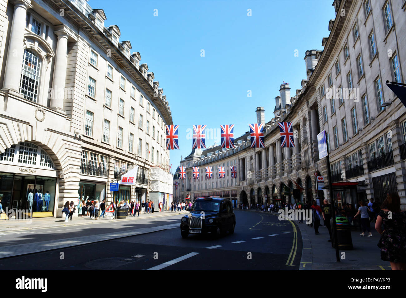 Nice day in London city. Liberation day. Stock Photo