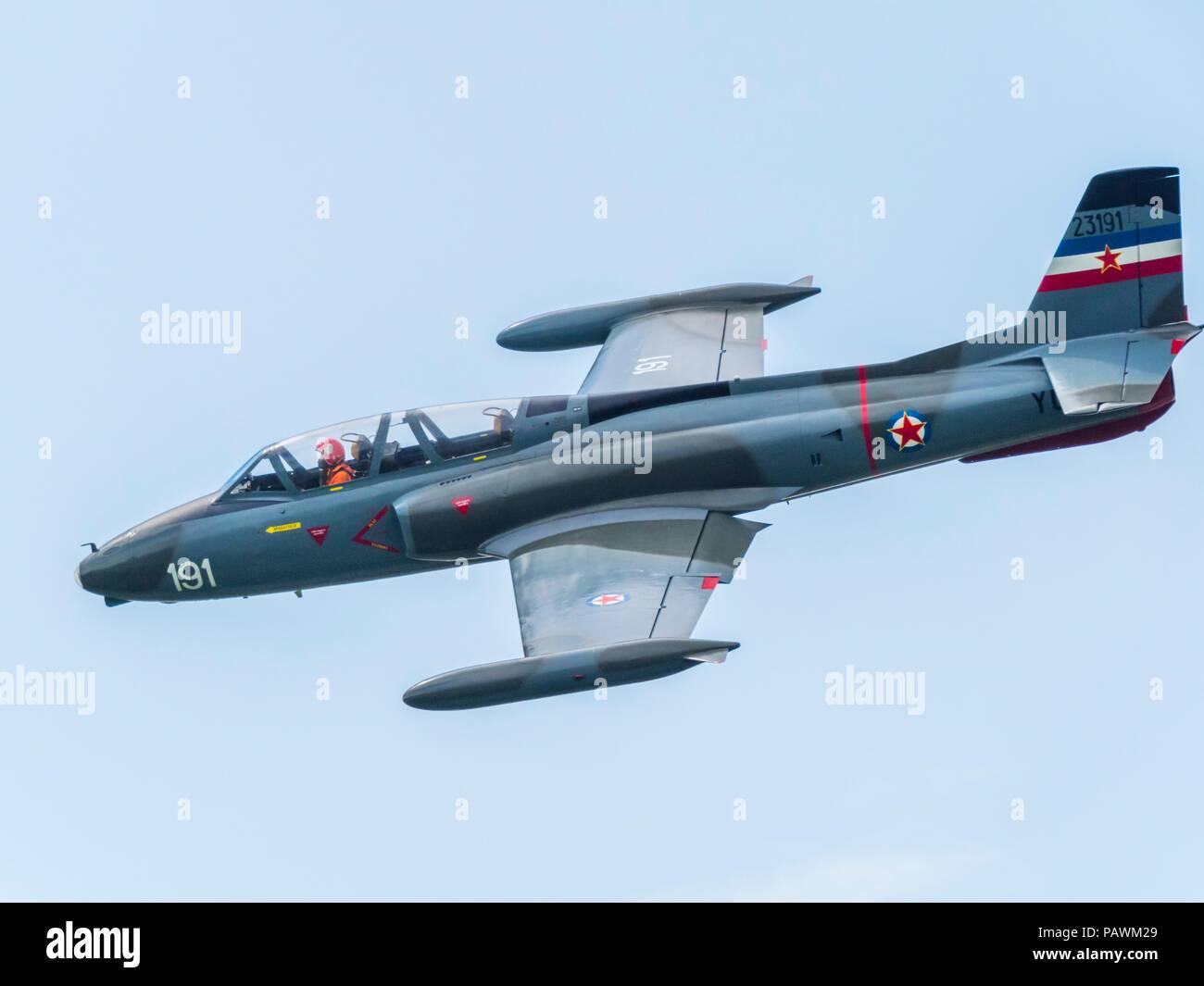Ex Yugoslav jet trainer aircraft G2 GalebStock Photo