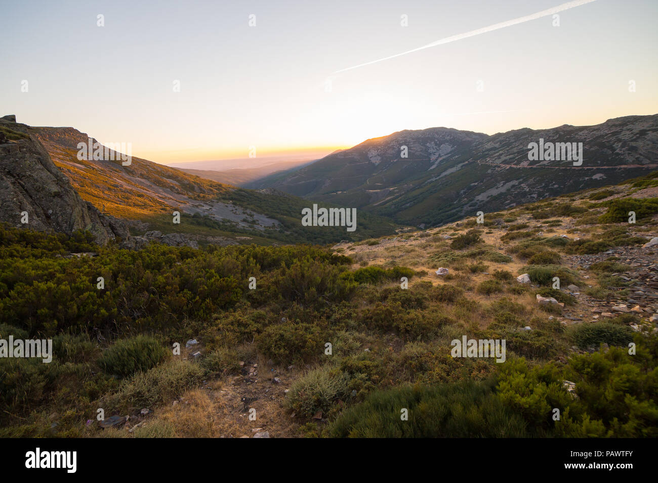 Beautiful Mountain Landscape At Sunset In La Pena De Francia Salamanca Spain