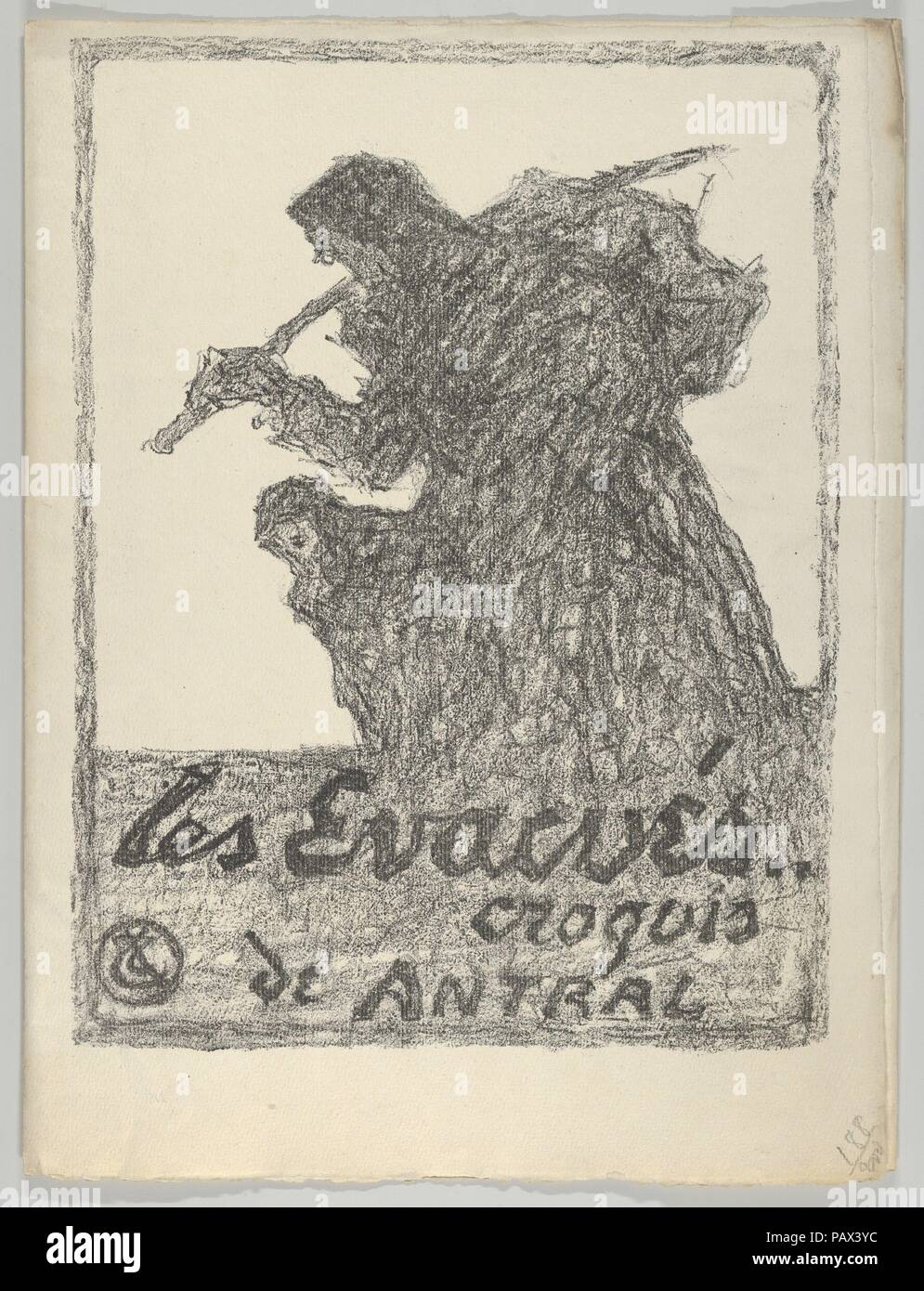 Folder With Lithograph Cover From Les Evacus Artist Louis Robert Antral
