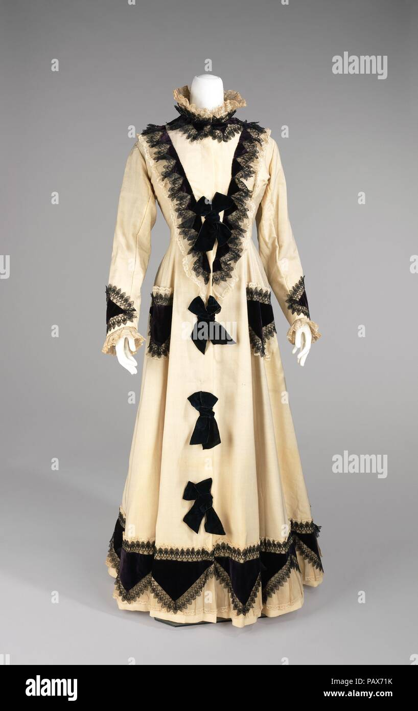 Tea gown. Culture: American. Date: 1875. This teagown belonged to ...