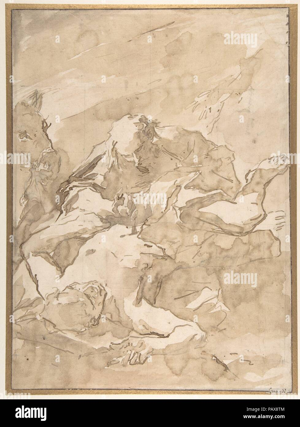 The Good Samaritan. Artist: Giovanni Antonio Guardi (Italian, Vienna 1699-1766  Venice). Dimensions: 13 7/16 x 9 7/8in. (34.2 x 25.1cm). Date: 1699-1766.