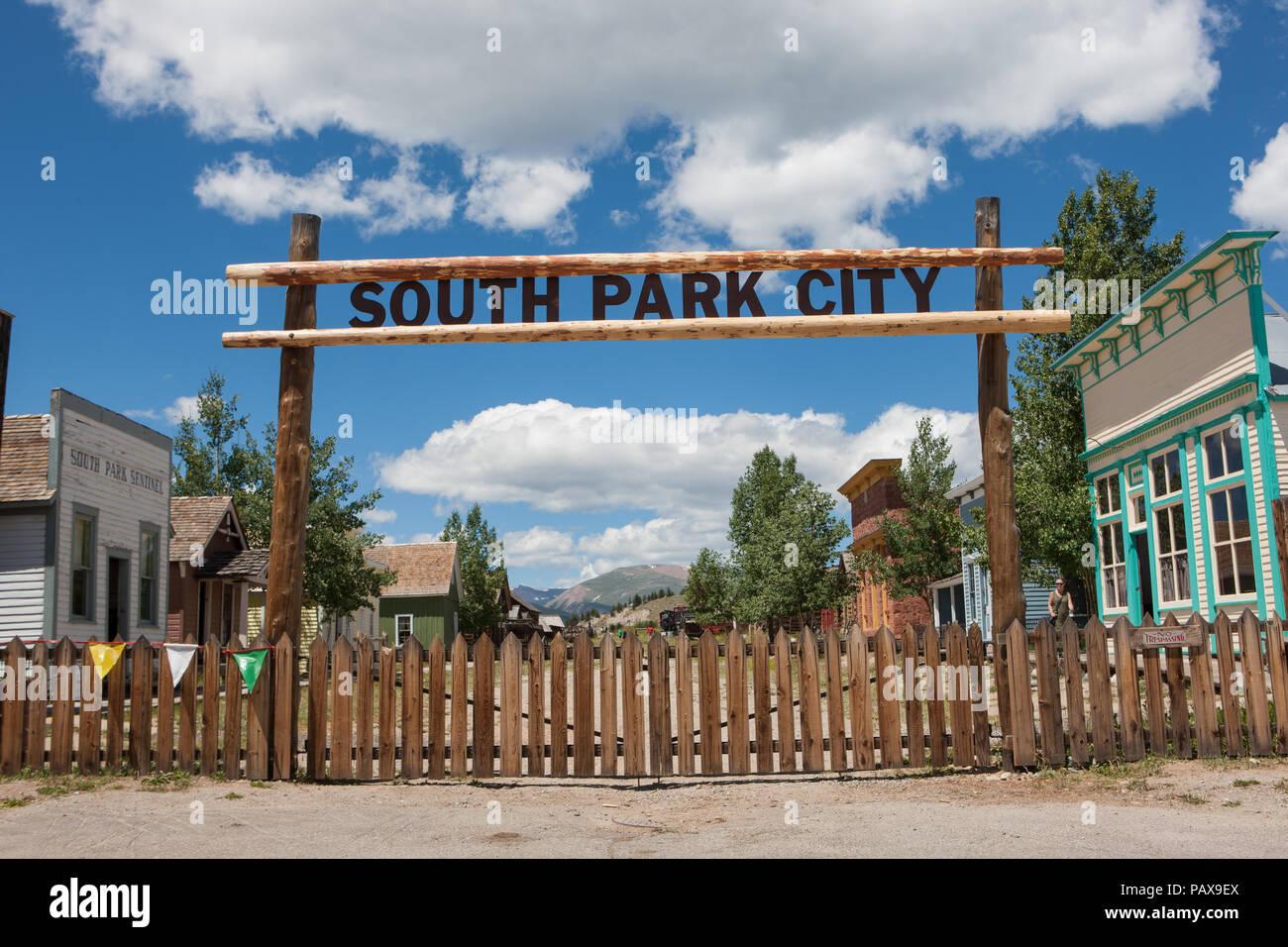 South Park City, Fairplay, Colorado - Stock Image