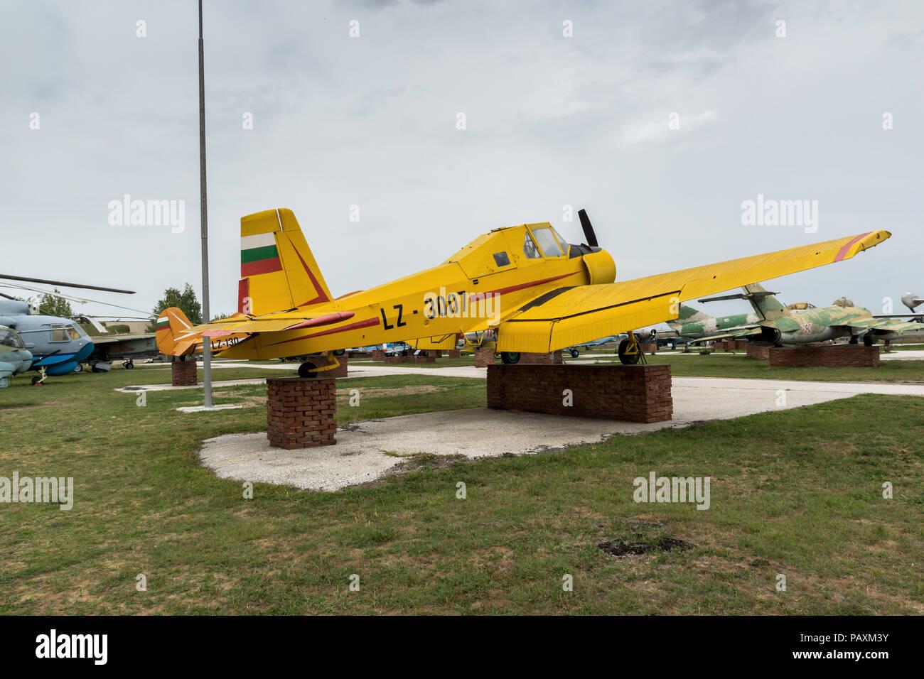 KRUMOVO, PLOVDIV, BULGARIA - 29 APRIL 2017: Plane LZ 3007 in Aviation Museum near Plovdiv Airport, Bulgaria Stock Photo