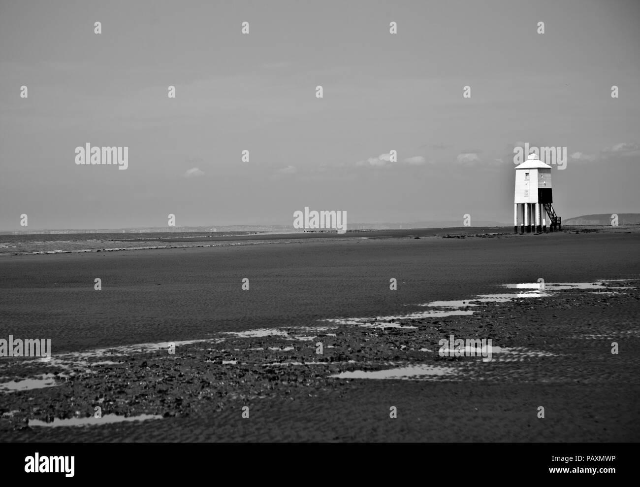 Burnham on Sea Lighthouse - Stock Image