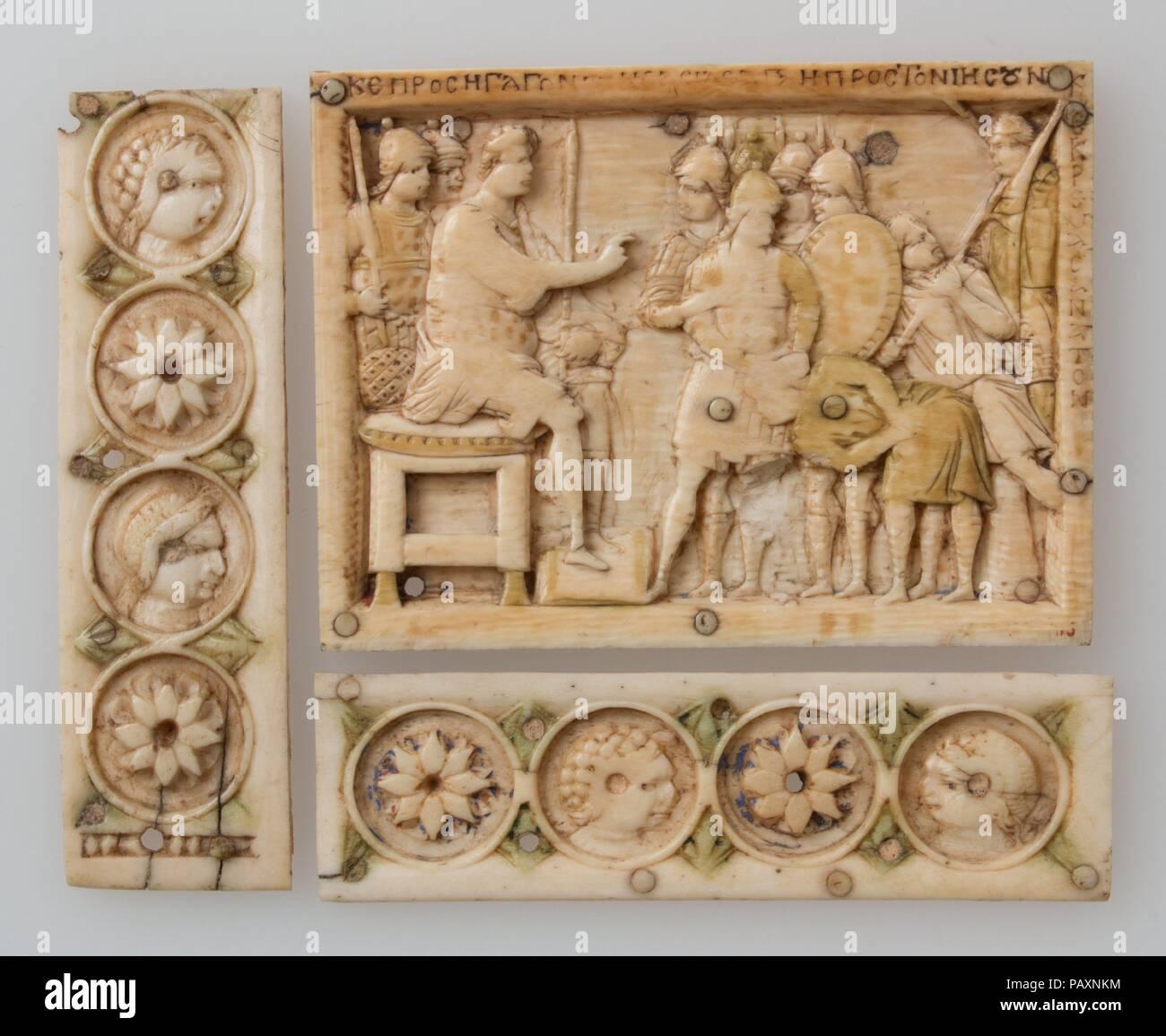 Casket Plaque  Culture: Byzantine  Dimensions: a: 2 9/16 x 3 7/16 x