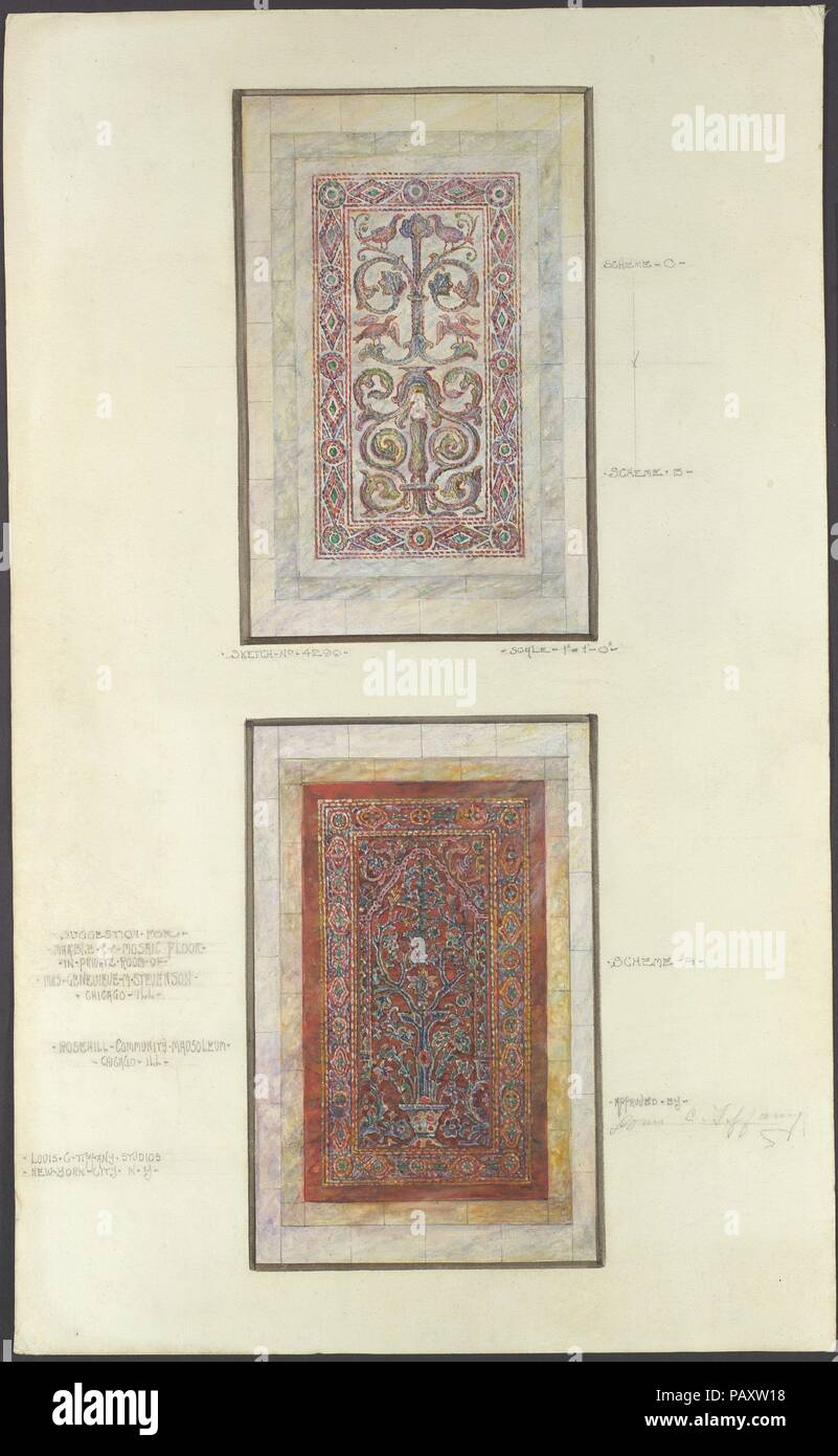 Suggestion For Marble Mosaic Floor Artist Louis Comfort Tiffany