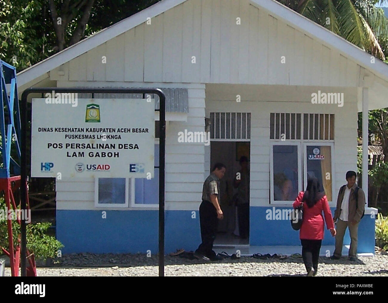 A Village Birthing Post In Aceh Besar Stock Photo Alamy