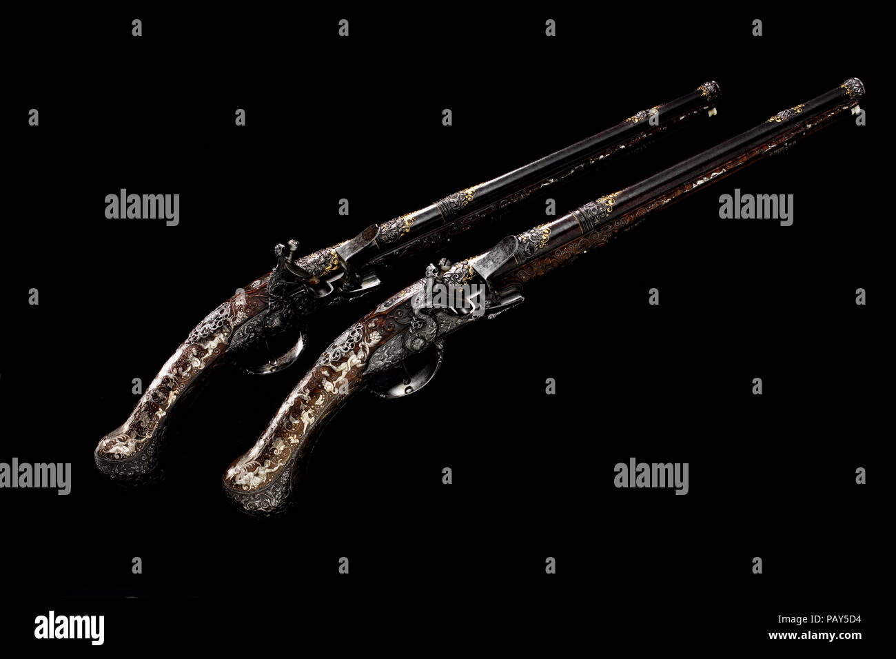 The Monlong pistols - Stock Image