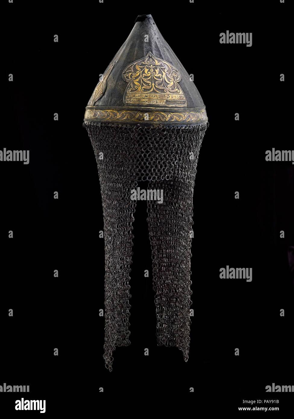 Tartar helmet - Stock Image