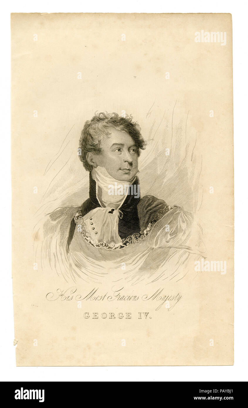 His most gracious majesty George IV - Stock Image