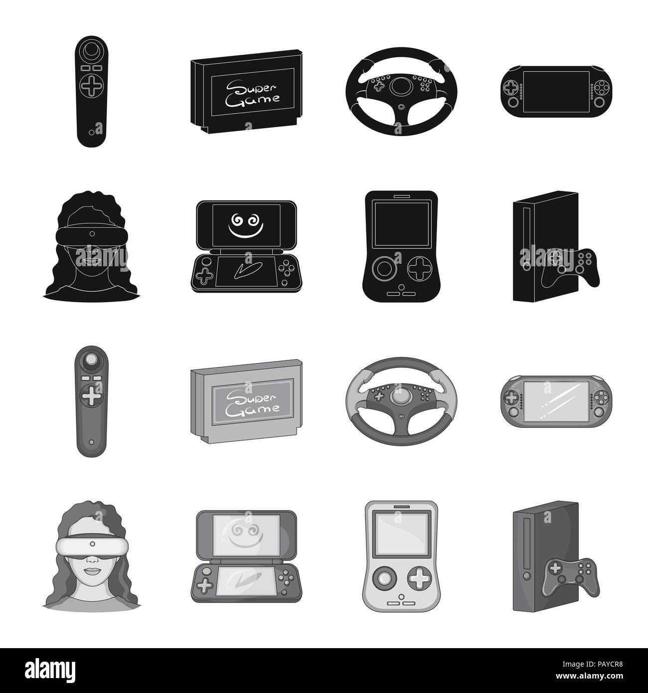 a6da870dbf72 Game console and virtual reality black