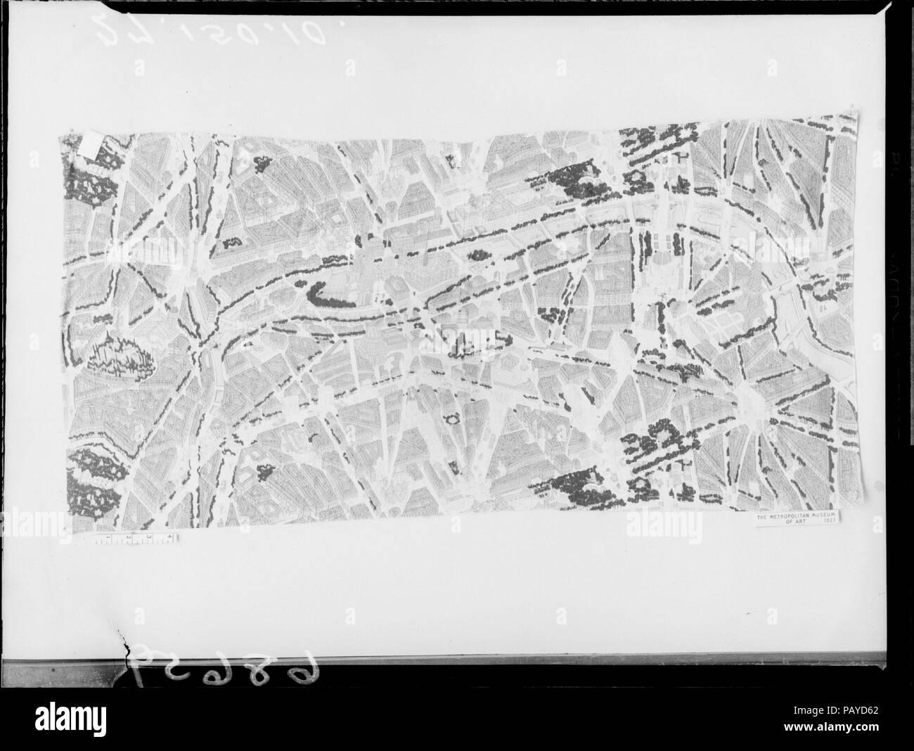 Map Of America Kansas City.Americana Print Map Of Paris Textile Designer Ralph Barton