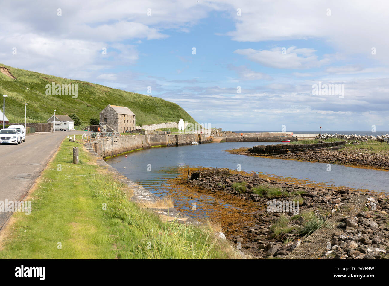 Dunbeath Harbour, the Highlands, Scotland - Stock Image