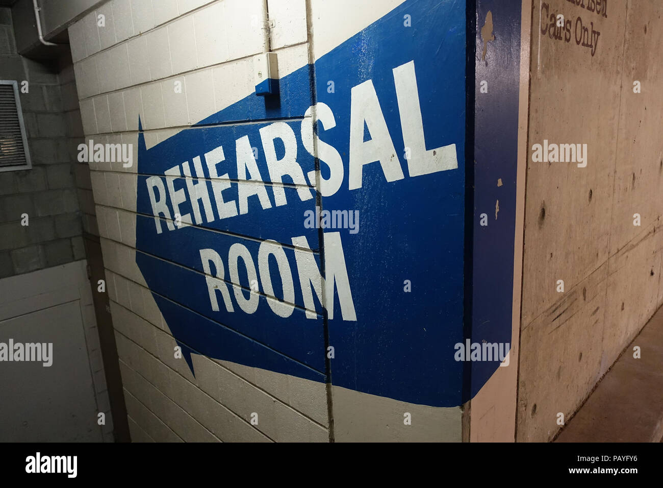 Directions to the Rehearsal Room - Stock Image