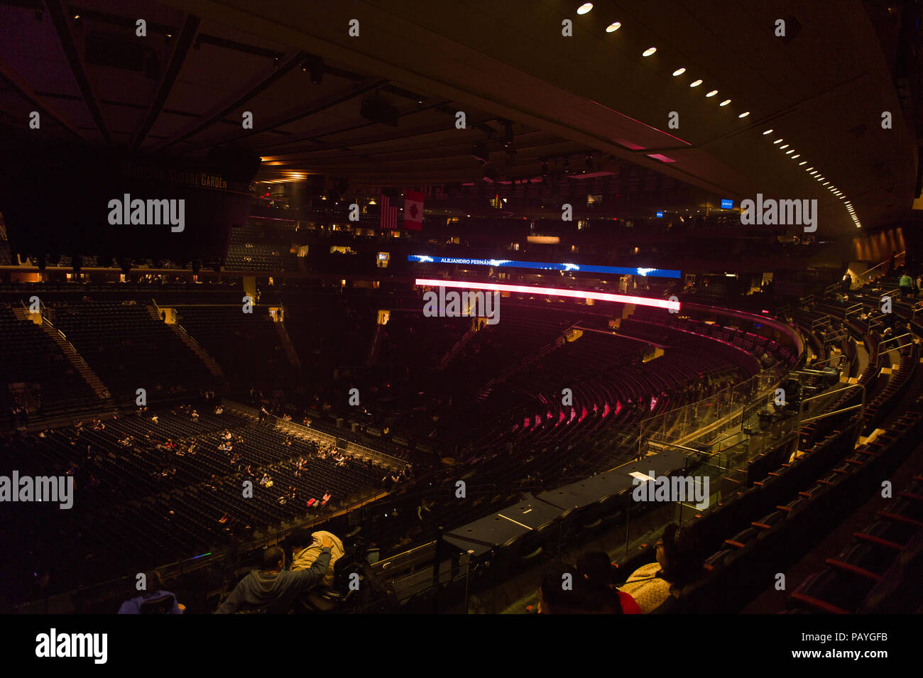 NEW YORK, USA   OCT 8, 2015: Madison Square Garden, New York City. MSG Is  The Arena For Basketball, Ice Hockey, Pro Wrestling, Concerts And Boxing.