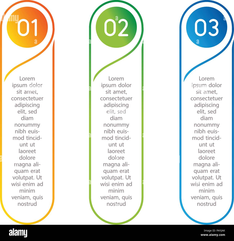 vertical steps infographic elements outline colorful menu for app