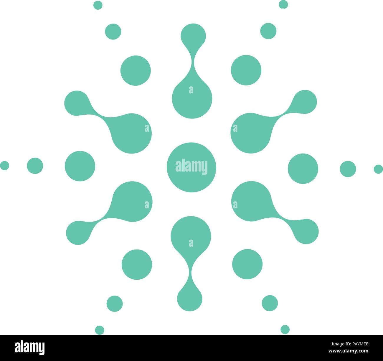 turquoise abstract round shape from circles universal logo template