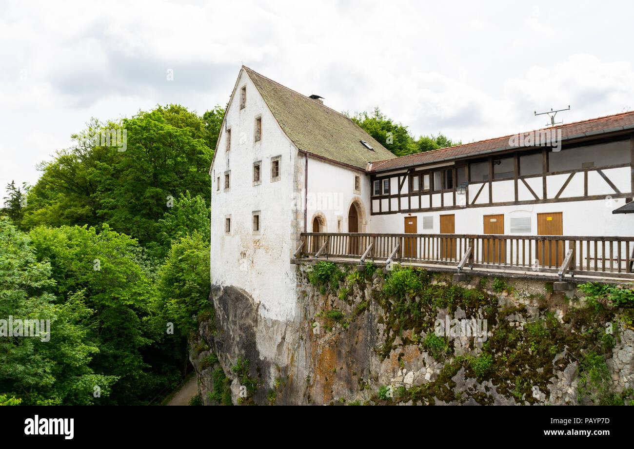DJH Jugendherberge Burg Wildenstein, Youth hostle Castle Wildenstein YHA, Upper Danube Valley, tuttlingen, Swabian Alp, Baden.württemberg, Germany - Stock Image