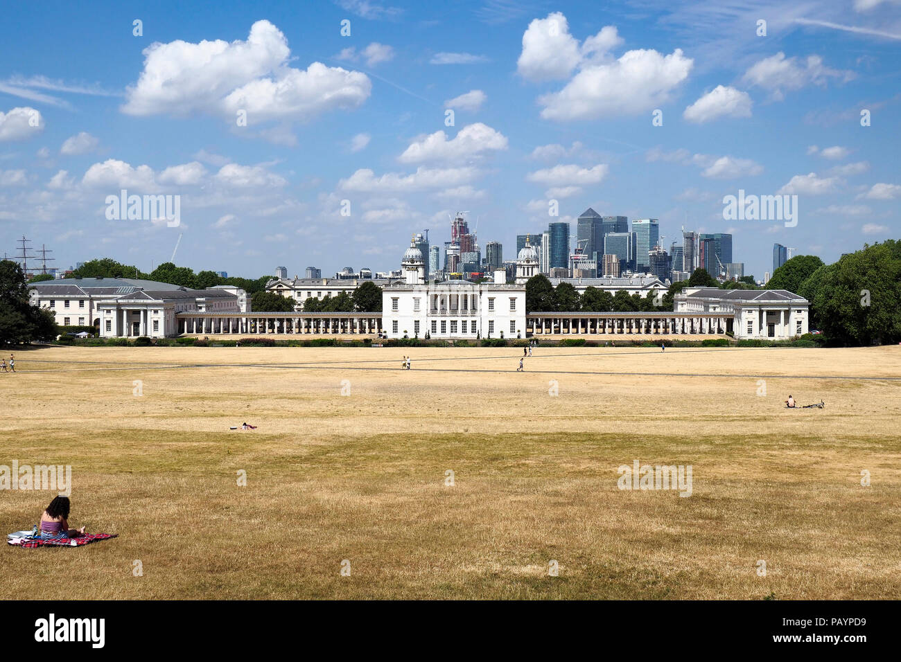 Greenwich Park London summer 2018 - Stock Image