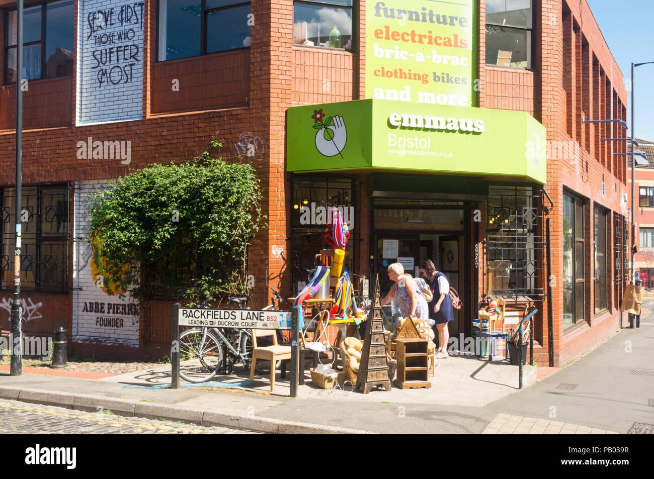 Emmaus secondhand shop, Bristol, UK - Stock Image