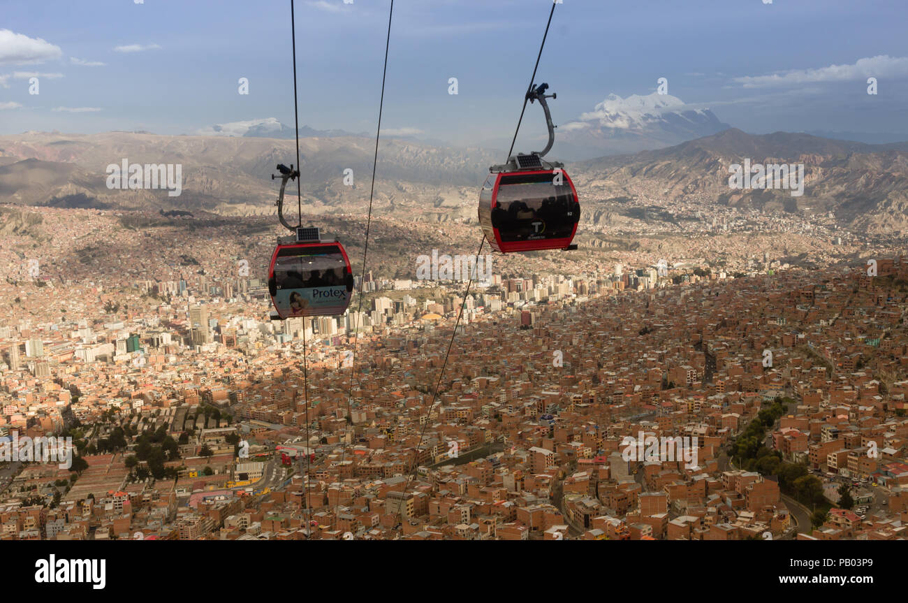 La paz from above - Stock Image