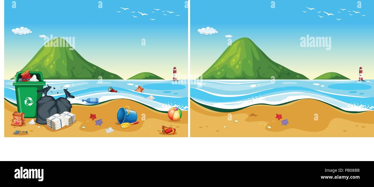 Marine Pollution Stock Vector Images - Alamy