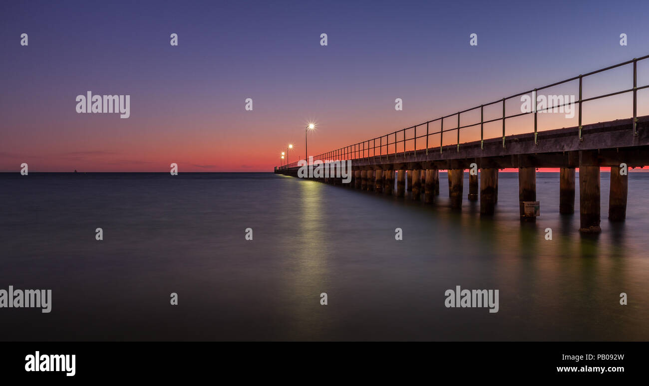 Rosebud Pier at sunset, Mornington Peninsula, Victoria, Australia - Stock Image