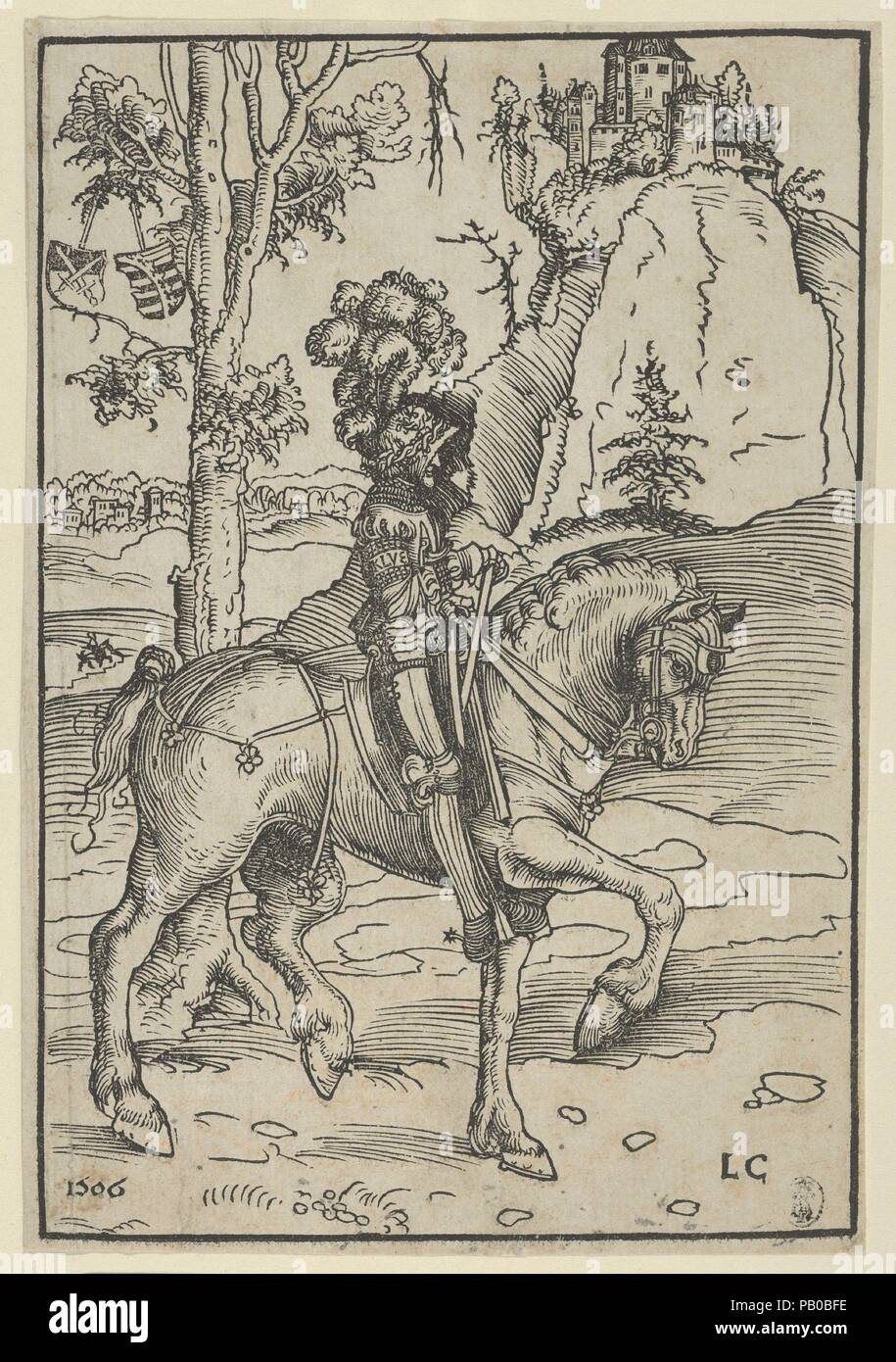 Artist: Lucas Cranach the Elder (German, Kronach 1472-1553 Weimar).  Dimensions: Sheet: 6 15/16 × 4 3/4 in. (17.7 × 12.1 cm). Date: 1506.