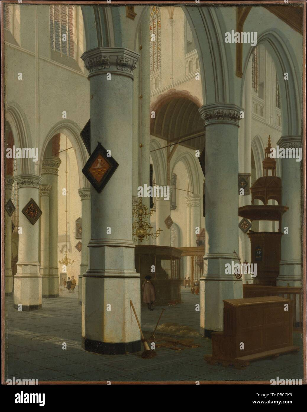 https://c8.alamy.com/comp/PB0CK9/interior-of-the-oude-kerk-delft-artist-hendrick-van-vliet-dutch-delft-161112-1675-delft-dimensions-32-12-x-26-in-826-x-66-cm-date-1660-van-vliet-was-one-of-several-artists-in-delft-who-specialized-in-the-depiction-of-church-interiors-in-this-painting-he-portrayed-the-oude-kerk-from-one-of-the-side-aisles-looking-past-the-crossing-to-the-northeast-an-oblique-angle-which-emphasizes-the-complexity-of-the-space-the-freshly-dug-tomb-in-the-foreground-may-have-been-intended-as-a-reminder-of-death-and-the-promise-of-everlasting-life-museum-metropolitan-museum-of-art-new-york-PB0CK9.jpg