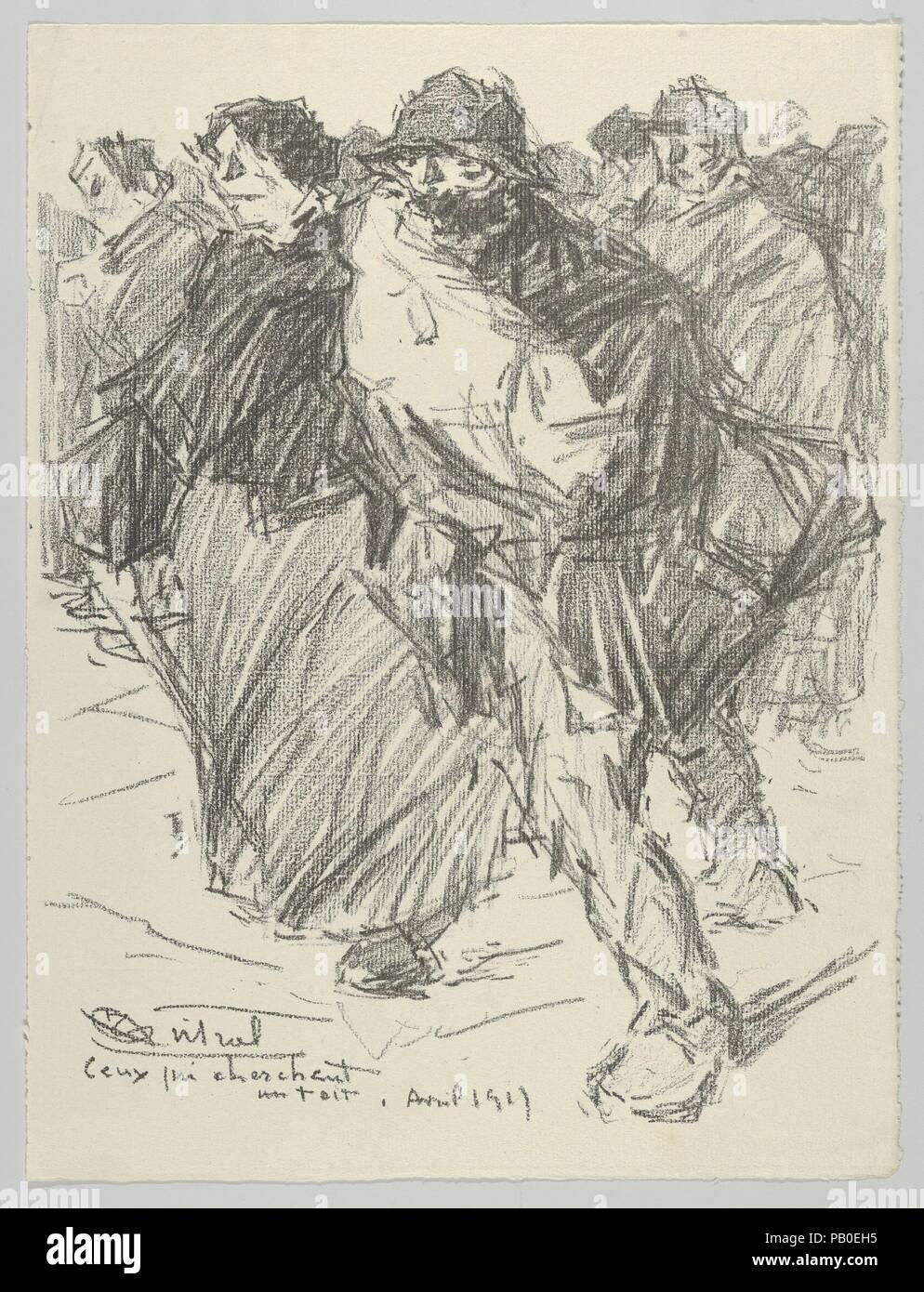 Ceux Qui Cherchent Un Toit From Les Evacus Artist Louis Robert Antral