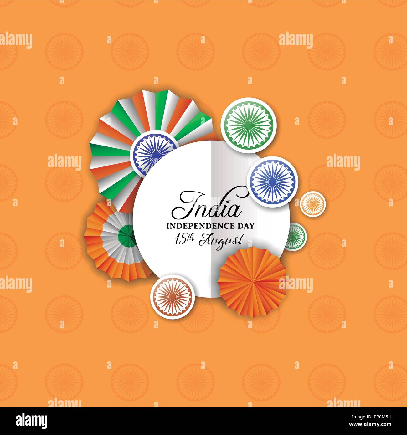 India Independence Day Greeting Card Indian Tricolor Badge