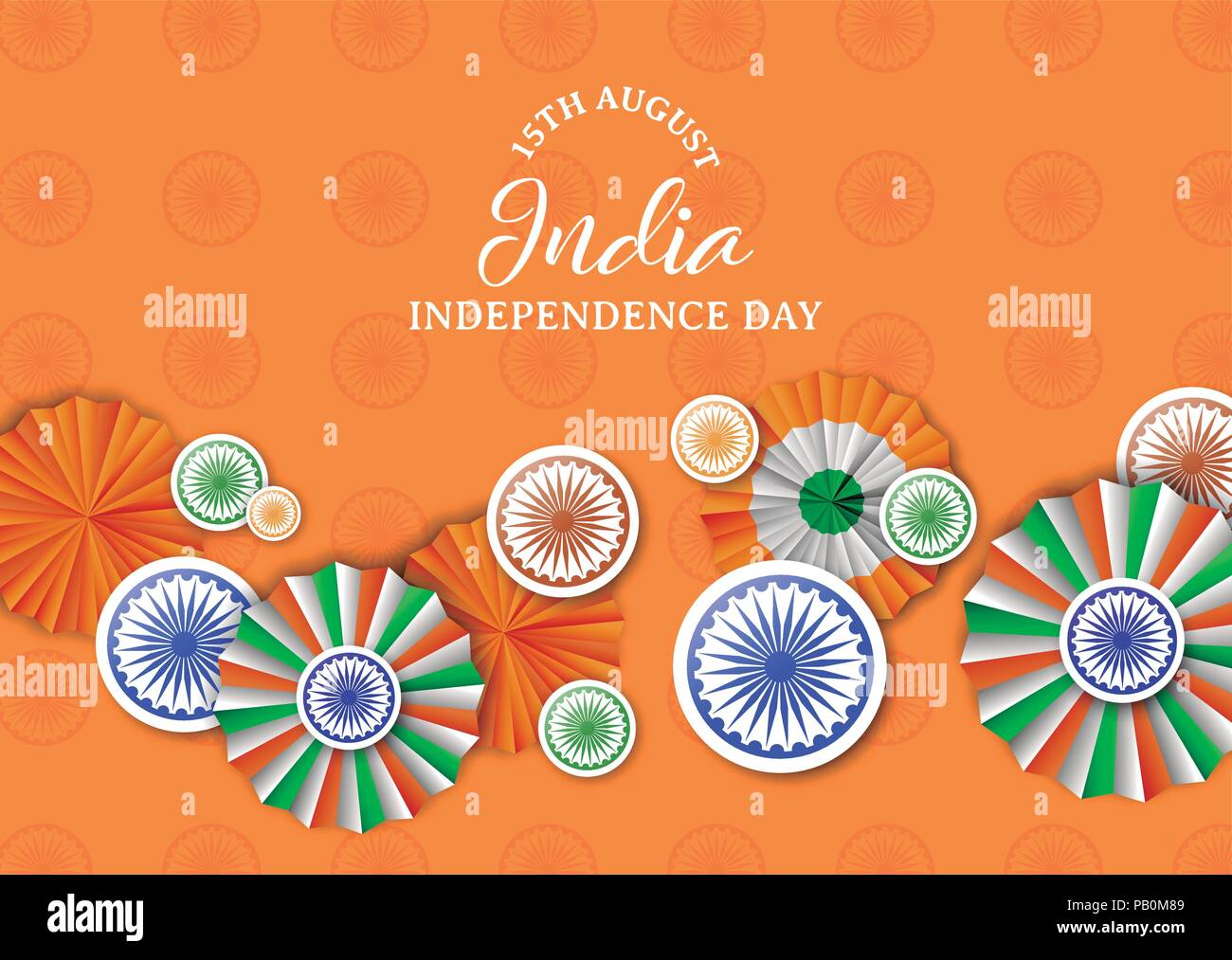 India independence day greeting card illustration traditional india independence day greeting card illustration traditional tricolor badges and indian flag color decoration with typography quote eps10 vector m4hsunfo