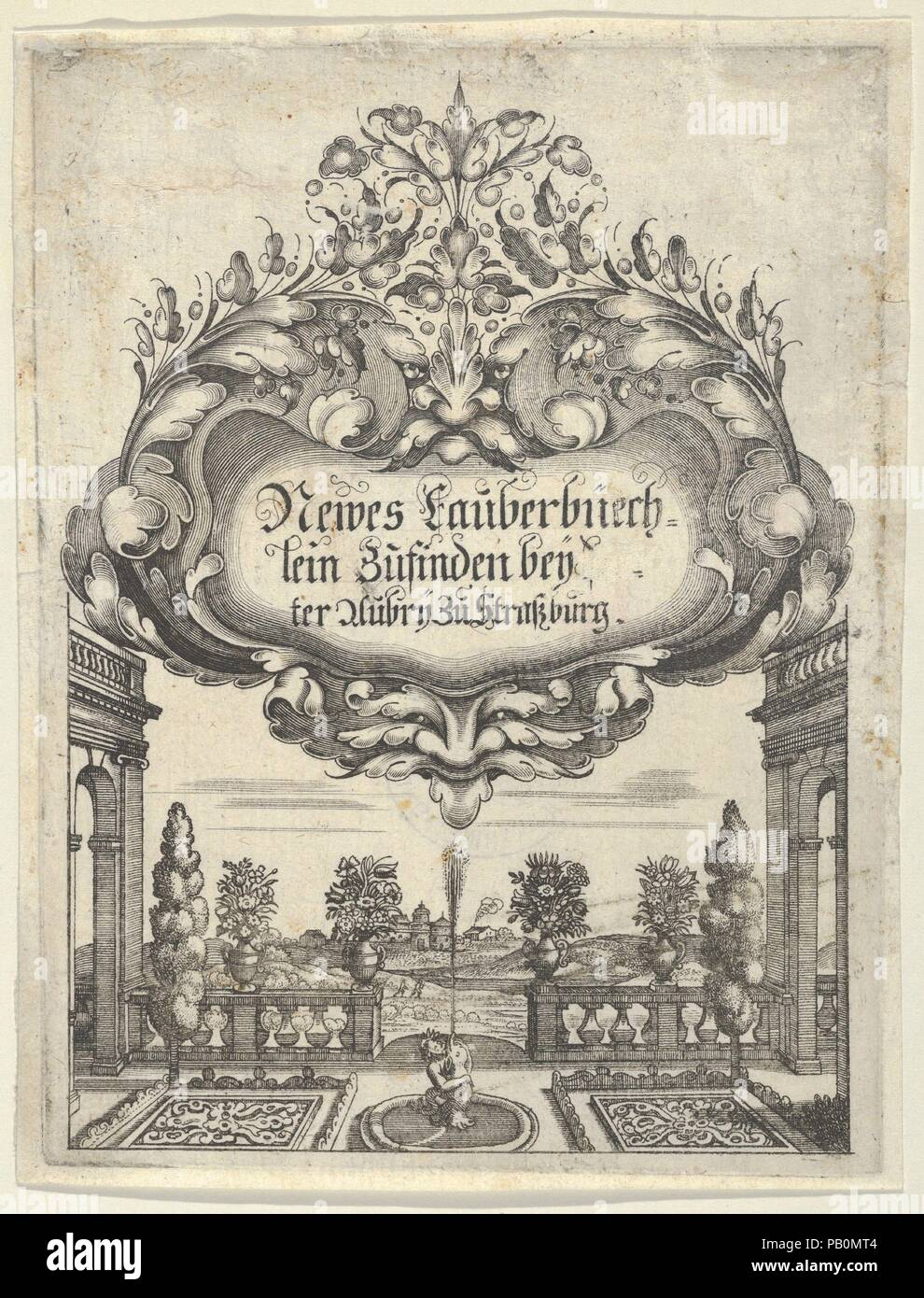 Title Page From Newes Lauberbuechlein Artist Peter Aubry