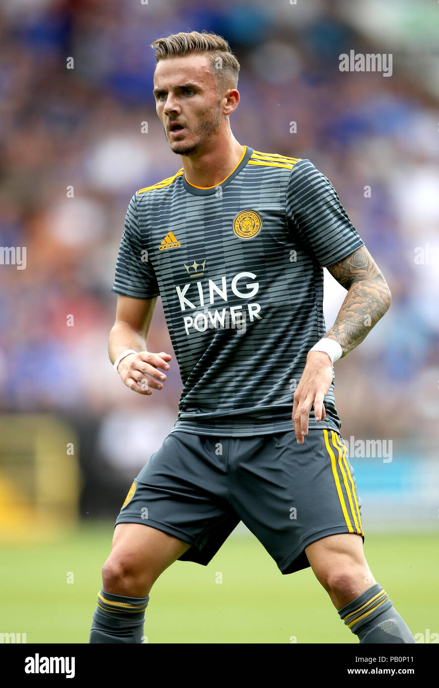 Leicester City's James Maddison during a pre season friendly match at Meadow Lane, Nottingham. - Stock Image